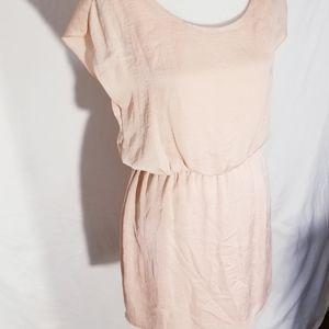 Gorgeous light peach lightweight midi dress